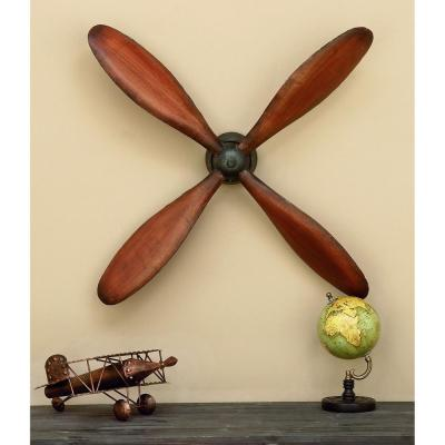 32 in. Metal Propeller Wall Decor