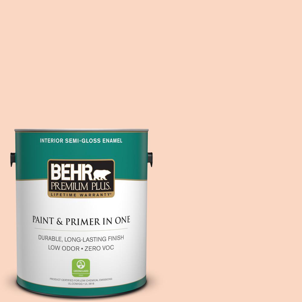 BEHR Premium Plus 1-gal. #220A-2 Friendship Zero VOC Semi-Gloss Enamel Interior Paint