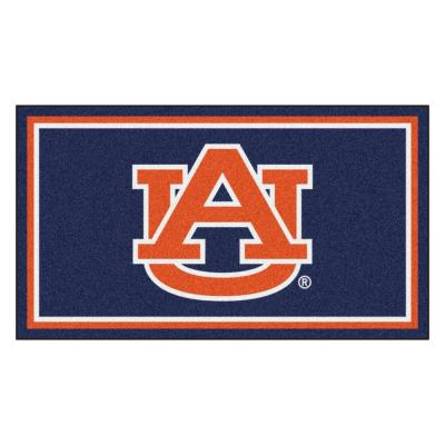 NCAA Auburn University 3 ft. x 5 ft. Ultra Plush Area Rug
