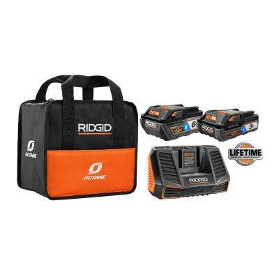 18-Volt OCTANE Lithium-Ion Bluetooth 3.0 Ah and 6.0 Ah Battery Starter Kit with Charger