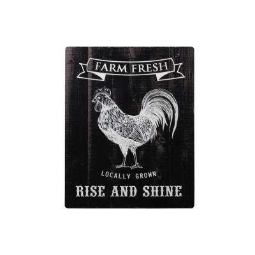 "19.50 in. x 16.75 in. ""Farm Fresh Rise And Shine"" Printed Wall Art"
