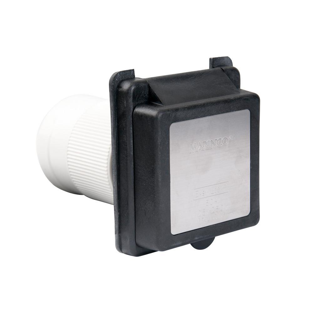50 Amp 125/250-Volt Poly Locking Power Inlet (4-Wire)