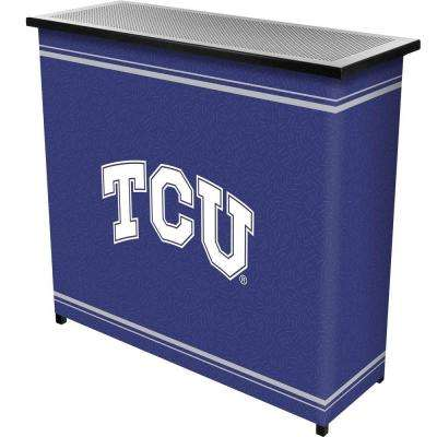 Texas Christian University 2-Shelf Black Bar with Case