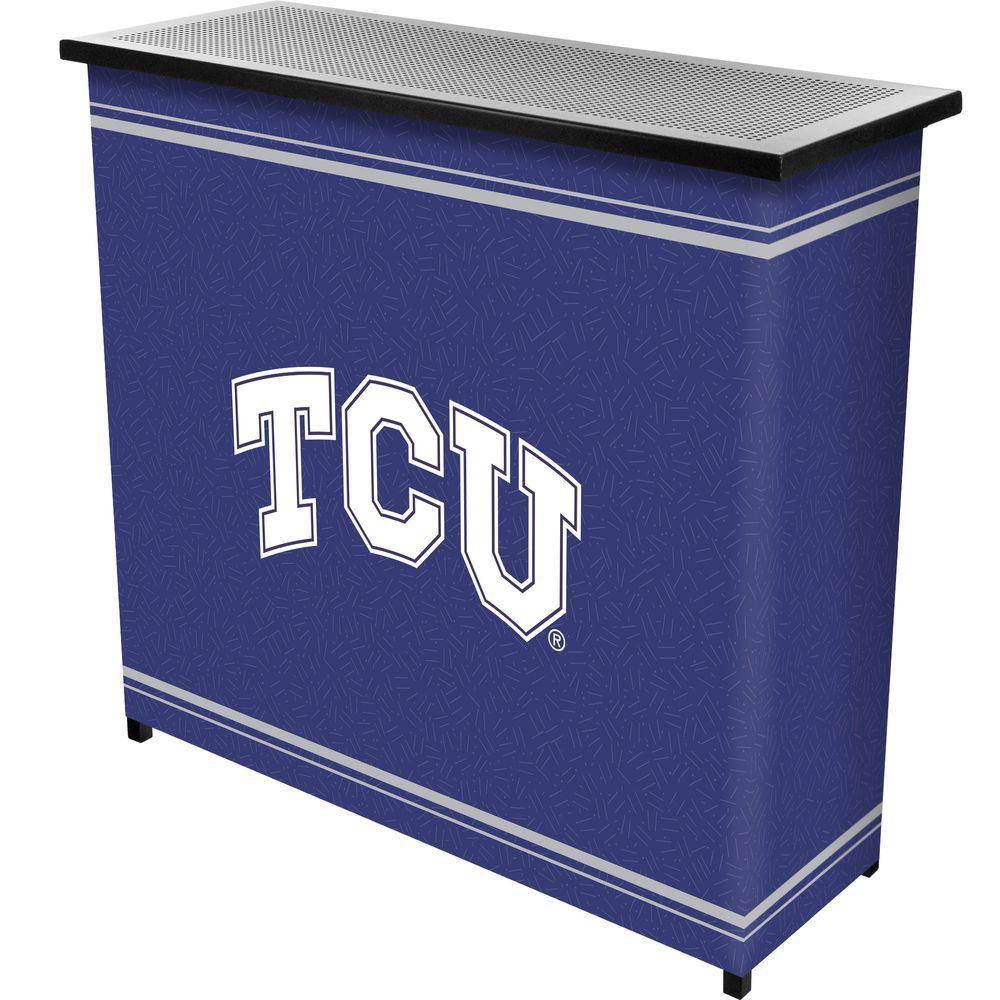 Texas Christian University 2-Shelf Black Bar with Case