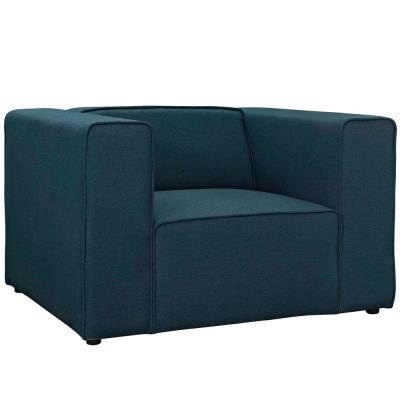 Mingle Blue Upholstered Fabric Armchair