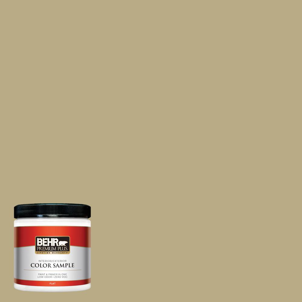 8 oz. #PPU8-08 Kaffir Lime Flat Interior/Exterior Paint Sample