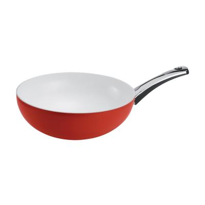 Pearl Wok 11.5 in./4.5 Qt. Red Milestone Handle