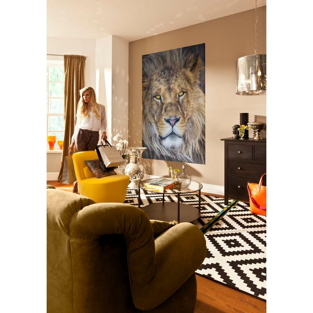 72 in. x 50 in. Lion Wall Mural