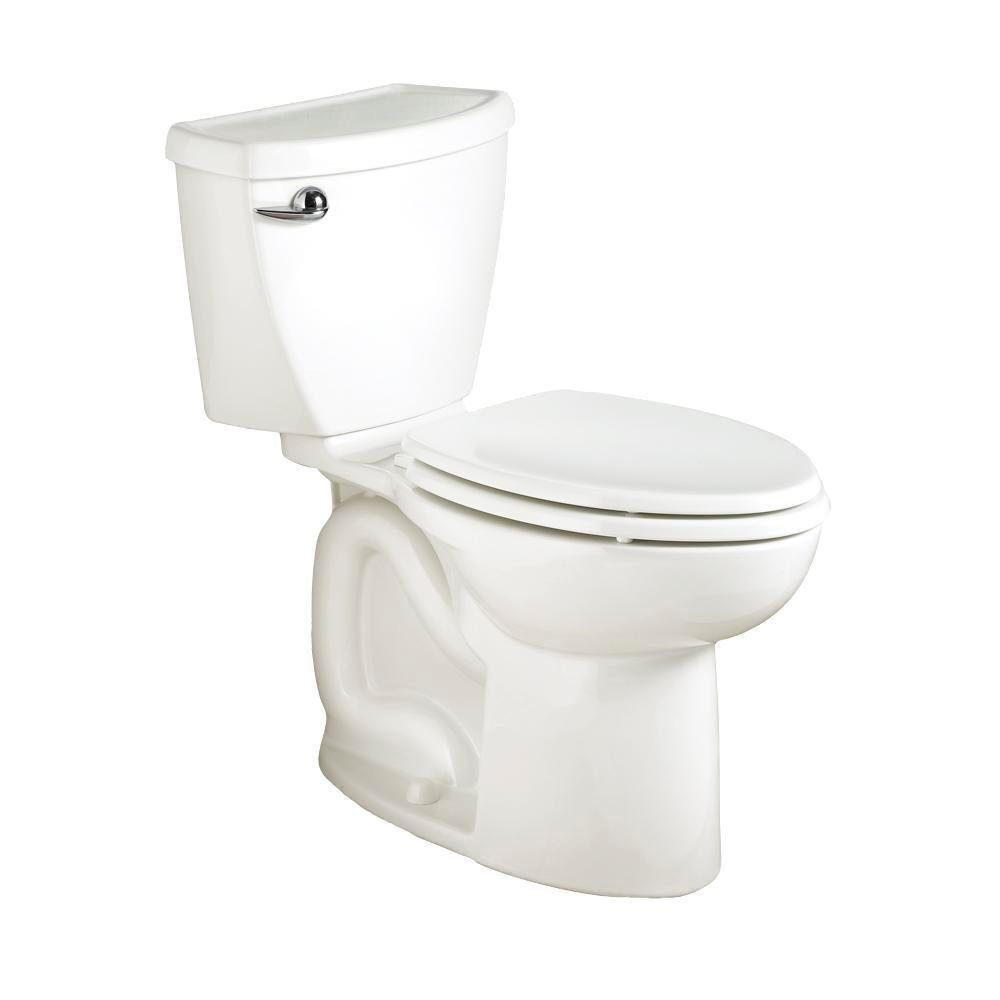 American Standard Cadet 3 Powerwash High-Efficiency 2-piece 1.28 GPF Single Flush Elongated Toilet in White, Seat Not Included