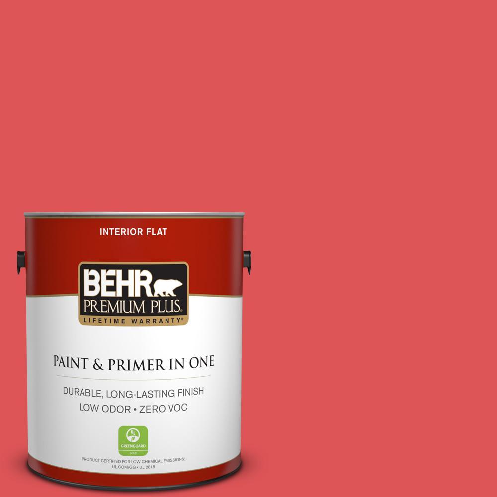 BEHR Premium Plus 1-gal. #150B-6 Firecracker Zero VOC Flat Interior Paint