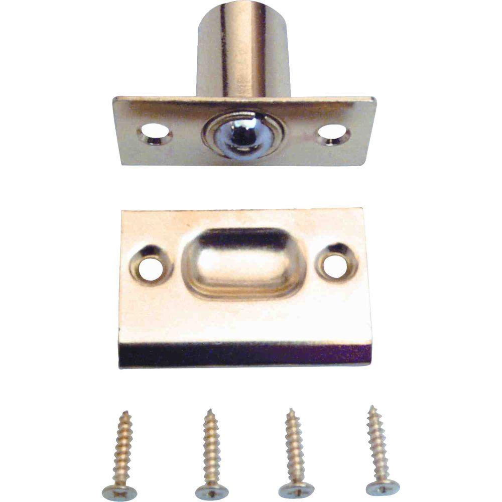 Large Brass Plated Bullet Catch With Strike