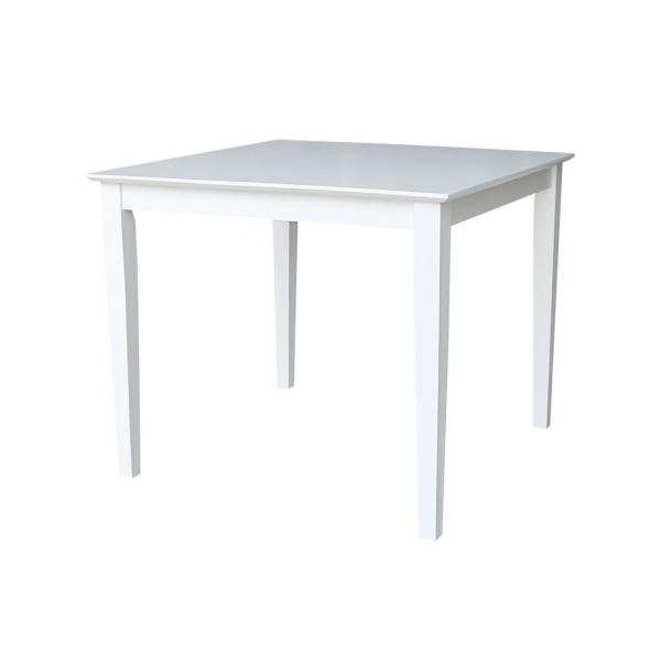 International Concepts Pure White Shaker Dining Table K08-3636-30S