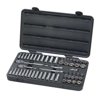 3/8 in. Drive SAE/Metric Socket Set (57-Piece)