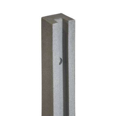 5 in. x 5 in. x 8-1/2 ft. Gray Composite Fence End Post