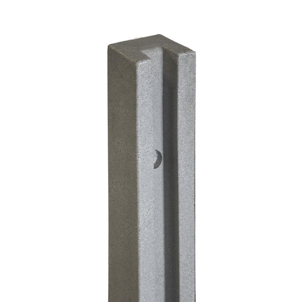 SimTek 5 in. x 5 in. x 8-1/2 ft. Gray Composite Fence End Post