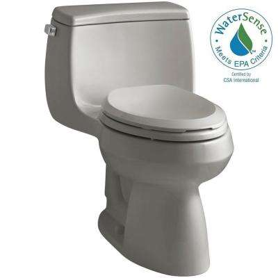 Gabrielle Comfort Height 1-Piece 1.28 GPF Single Flush Elongated Toilet with AquaPiston Flushing Technology in Cashmere
