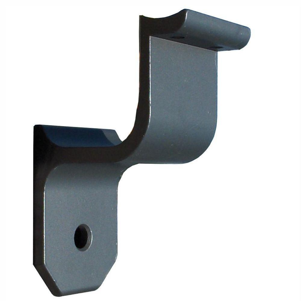 1.9 in. Aluminum Round ADA Handrail Bronze Wall Bracket