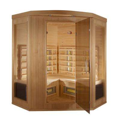 Thera Classic 3-Person, 12 -TheraMitter Ceramic Heaters, Hemlock Wood, SoftTouch Control, Far Infrared Sauna