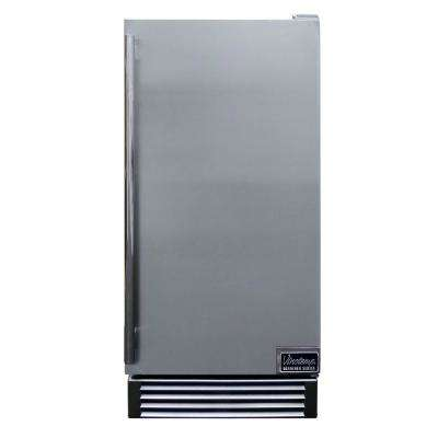 Designer Series 14 in. 44 lb. Freestanding or Built-In Automatic Ice maker in Stainless Steel