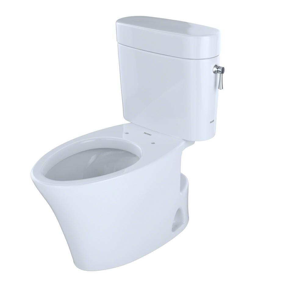 TOTO Nexus 2-Piece 1.28 GPF Single Flush Elongated Toilet with Right ...
