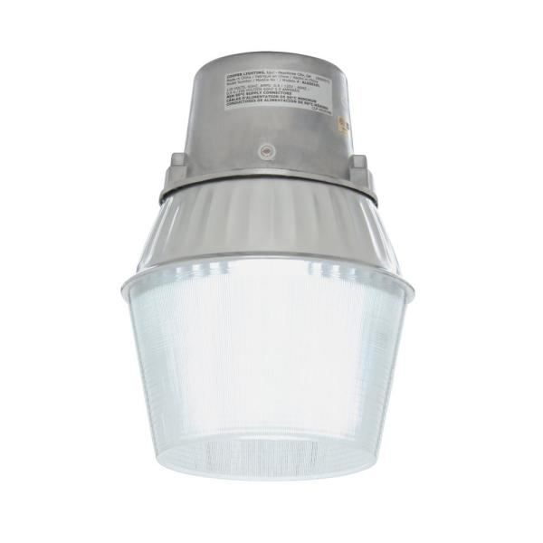 Halo 65 Watt Metallic Outdoor Fluorescent Security Wall And Area Light With Dusk To Dawn Photocell Sensor Al6501fl The Home Depot