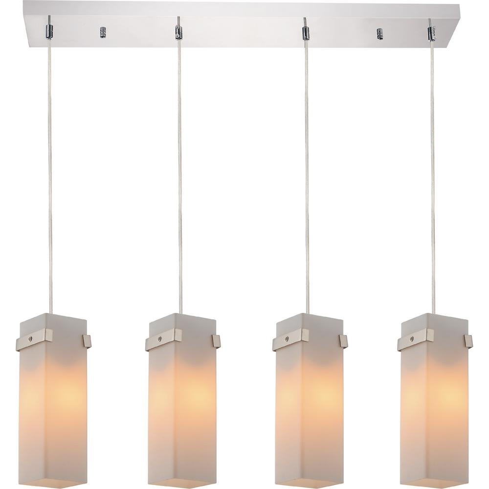 Hype 4-Light Chrome Chandelier with White shade