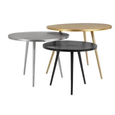 Home Decorators Collection Gold, Silver and Dark Bronze Finish Metal Coffee Tables (Set of 3) (25.5 in. W x 19.25 in. H)