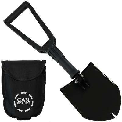 22.5 in. Steel Portable Camping Shovel with Carrying Case