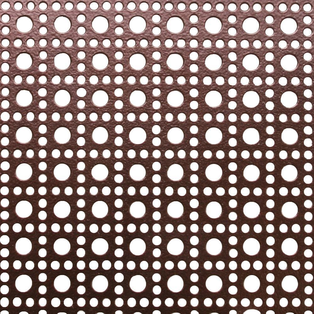 1 ft. x 2 ft. Aluminum Venetian Bronze Lincane Sheet