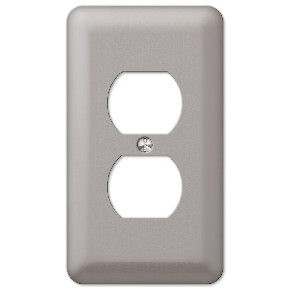 Outlet Plates Hampton Bay Declan 1Duplex Outlet Plate Pewter2Dpwhb  The Home