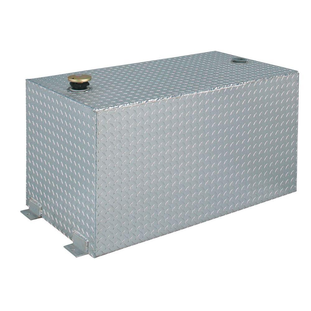 Delta Rectangular Aluminum Liquid Transfer Tank in Silver Metallic