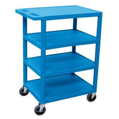 BC 24 in. Plastic Utility Cart Blue