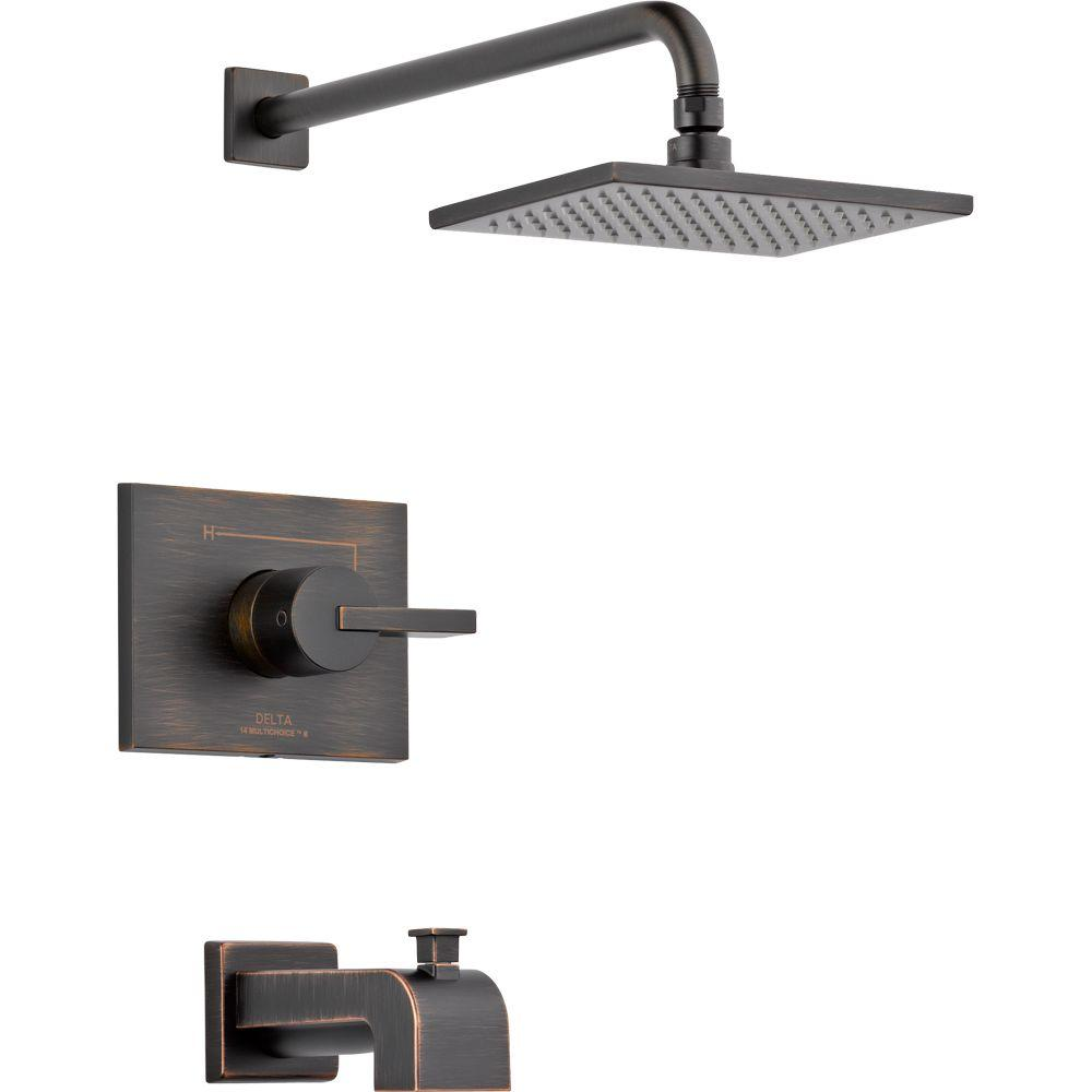 shower faucet kit with valve. Delta Vero 1 Handle Tub And Shower Faucet Trim Kit Only In Venetian Bronze