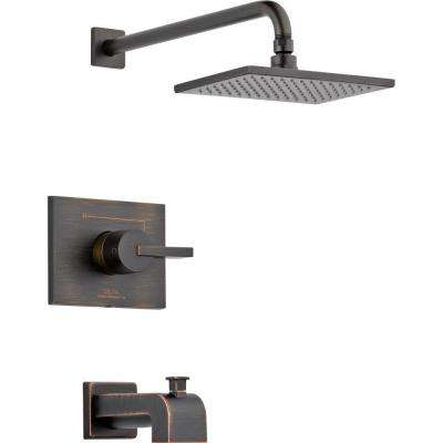 Vero 1-Handle Tub and Shower Faucet Trim Kit Only in Venetian Bronze (Valve Not Included)