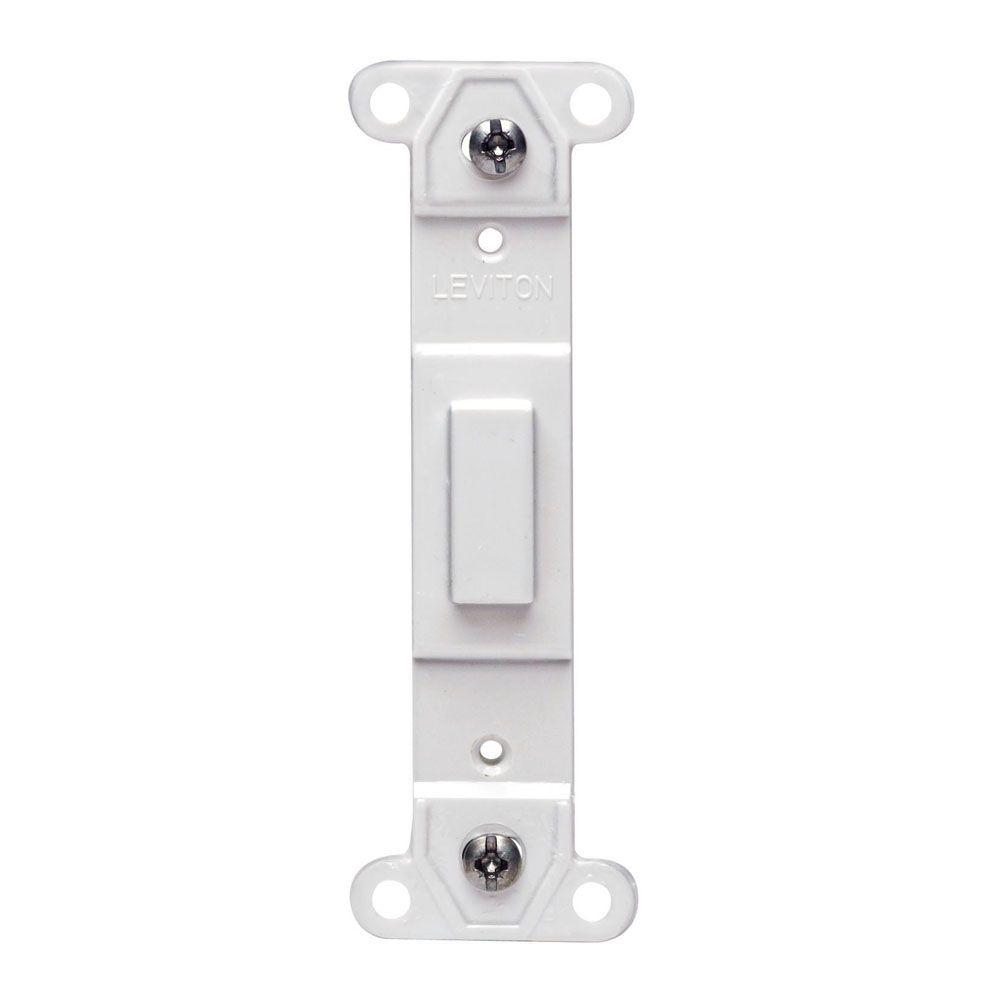 Blank Switch Plate Prepossessing Leviton Decora Blank Insert Whiter528041400W  The Home Depot Design Inspiration