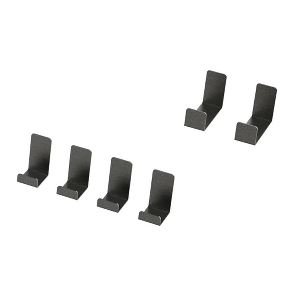 VersaRac 4.2 in. H x 9 in. W x 2.8 in. D Ceiling Mounted Steel 6-Piece Accessory Kit J-Hooks in Gray