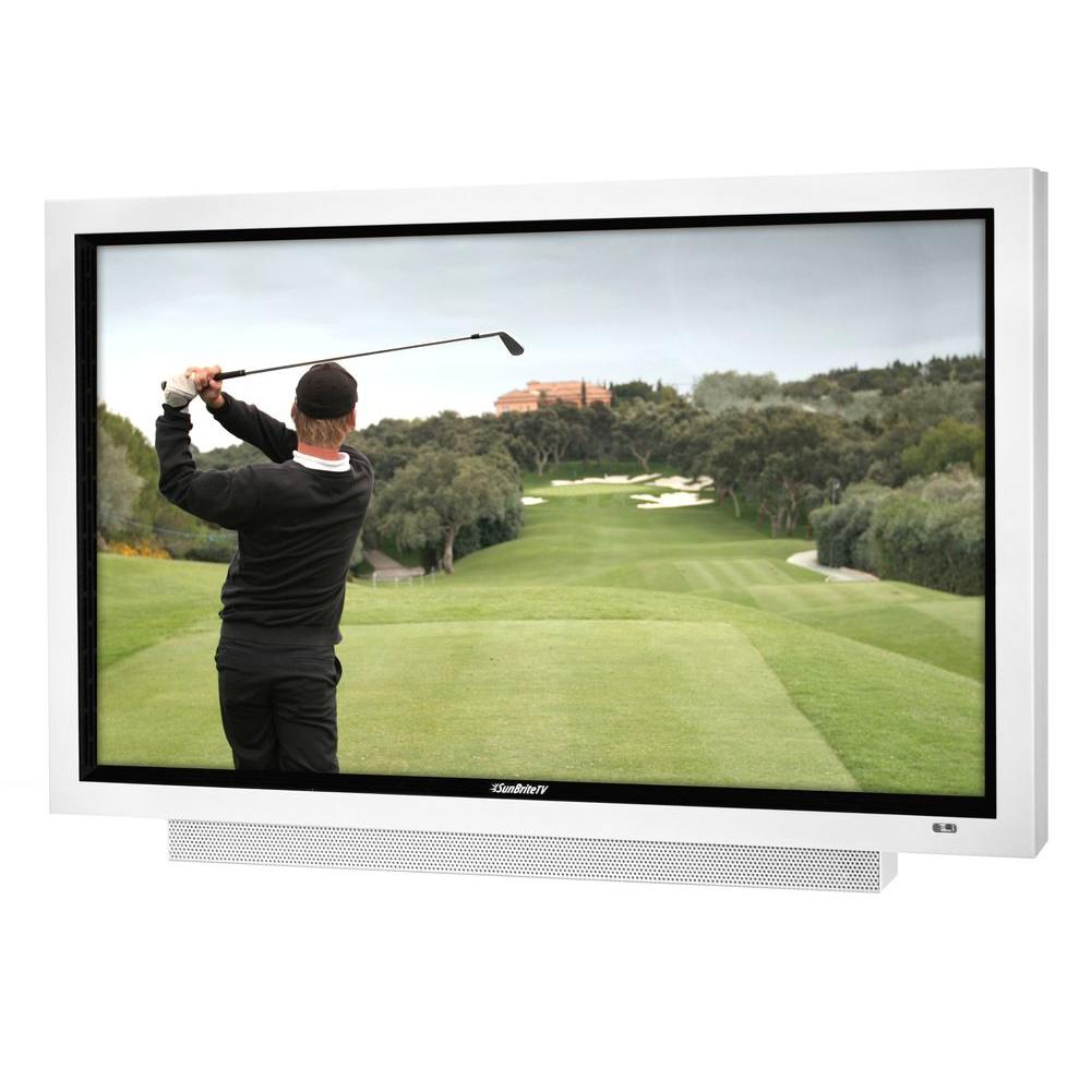 SunBriteTV Signature Series Weatherproof 65 in. Class LED 1080P 240Hz Outdoor HDTV - White-DISCONTINUED