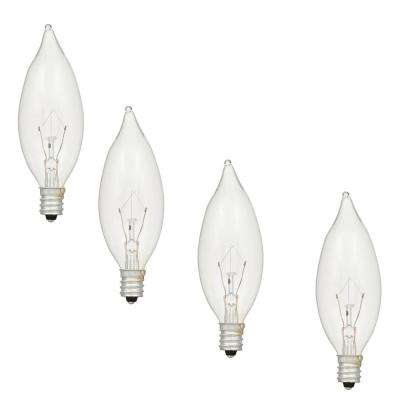 40-Watt Double Life B10 Incandescent Light Bulb (4-Pack)