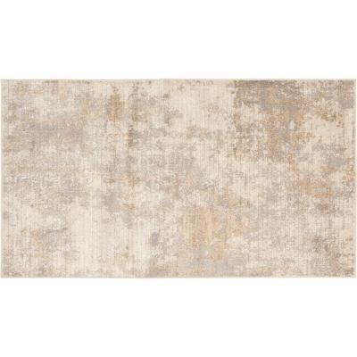 Medina Beige 2 ft. x 3 ft. Abstract Scatter Area Rug