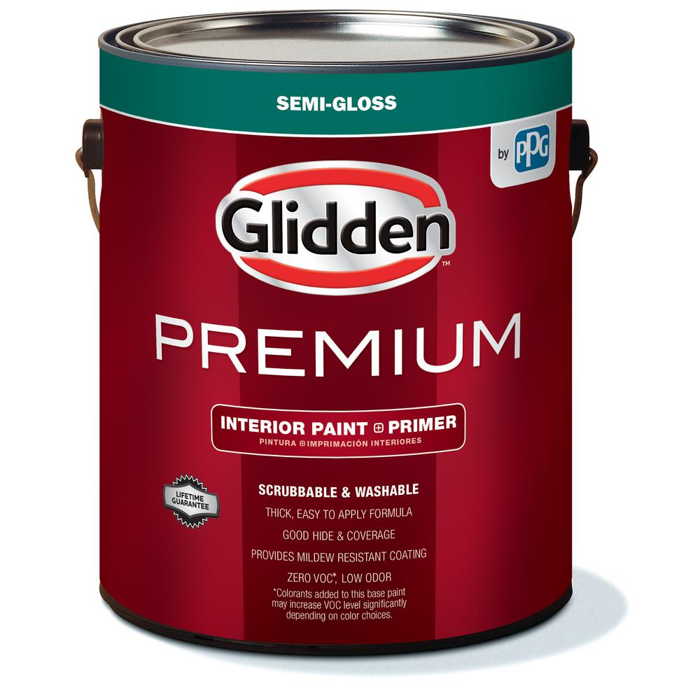 Glidden Premium 1 Gal Semi Gloss Interior Paint