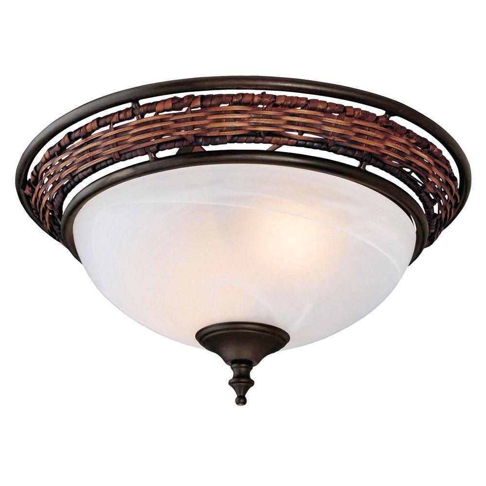 Hunter 10 in. Wicker Ceiling Fan Light Kit-DISCONTINUED