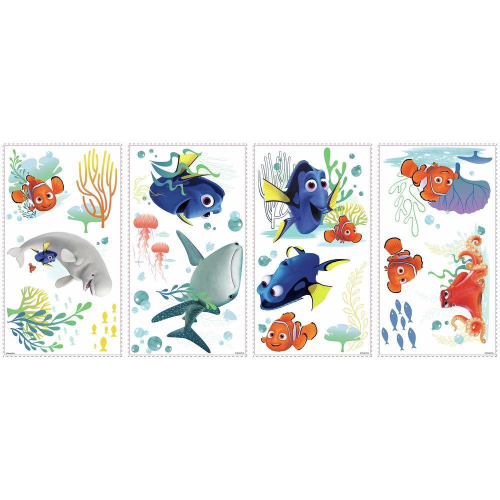 Wall Décor Baby Disney Pixar Finding Dory Kids Wall Art Stickers Nursery Decor Hank Destiny Nemo
