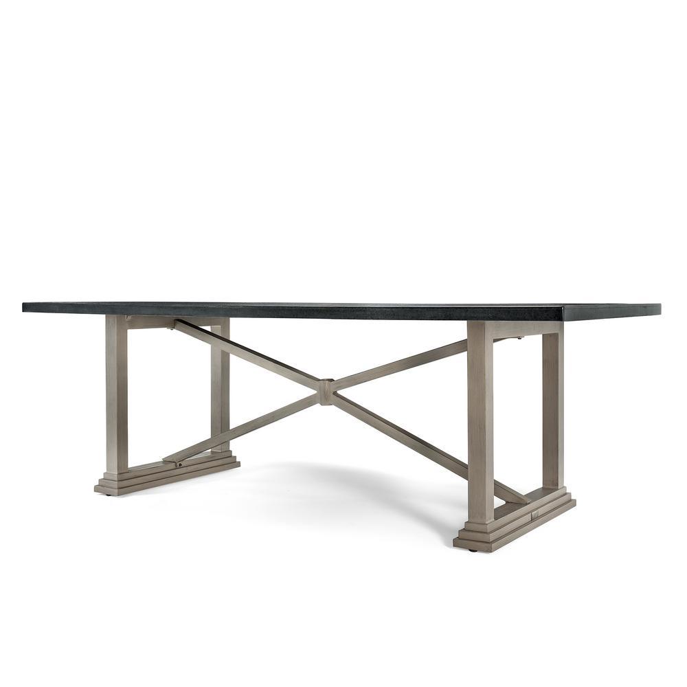 Saylor Rectangular Aluminum Top Outdoor Dining Table