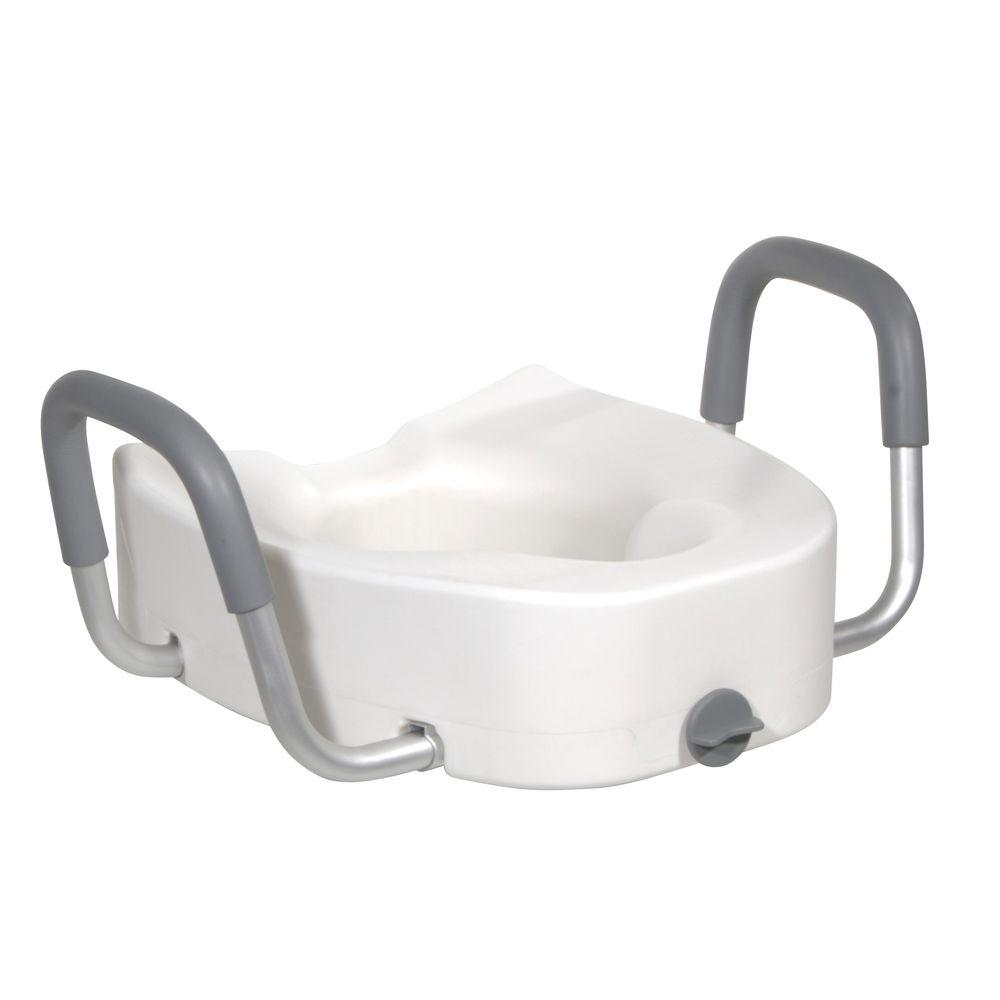 Raised Toilet Seat. Elevated Toilet Seats   Toilet Safety   The Home Depot