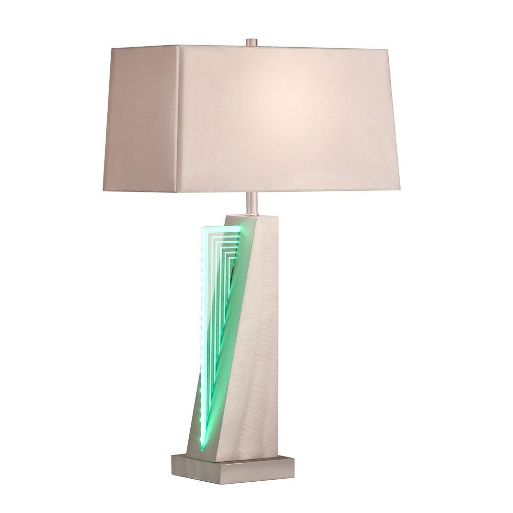Filament Design Astrulux 30 in. Brushed Aluminum Screen Printed Table Lamp