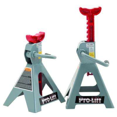 2 Ton Jack Stands with Ductile Cast Iron Ratchet Bar (Pair)
