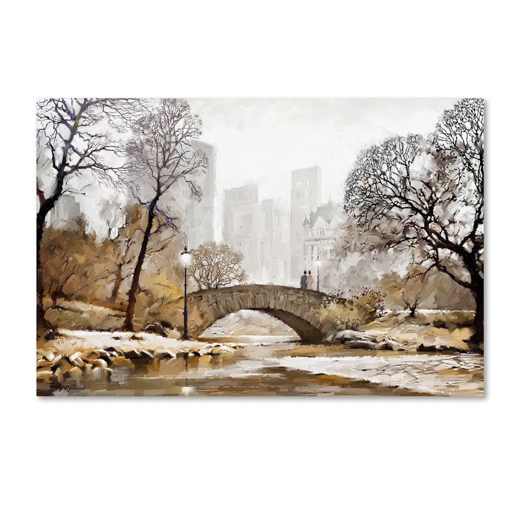 "30 in. x 47 in. ""Gapstow Bridge"" by The Macneil Studio Printed Canvas Wall Art"