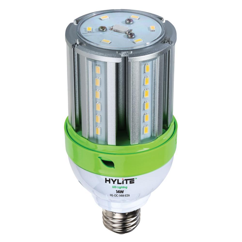 14-Watt E26 Omni-Cob LED Lamp 60-Watt HID Equiv 5000K 1960 Lumens Ballast Bypass Base IP 65 UL and CE Certified (1-Bulb)