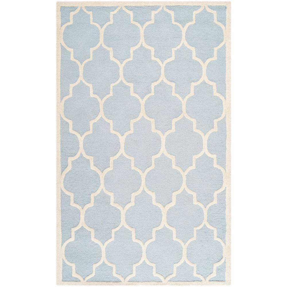 Safavieh Cambridge Light Blue Ivory 5 Ft X 8 Area Rug