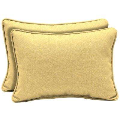 22 x 15 Shirt Texture Oversized Lumbar Outdoor Throw Pillow (2-Pack)